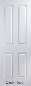 White Primed Atherton 4 Panel - Smooth - JW