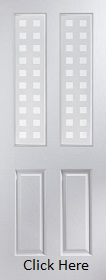 White Primed  Atherton Geometric Glazed - Smooth - JW