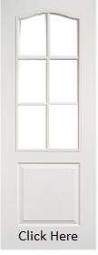 White Primed Classic 1 Panel 6 Light - U...