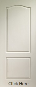 White Primed Classique 2 Panel - Woodgrain - XL