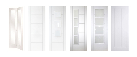 White Primed Contemporary Doors with Smooth Finish