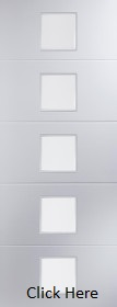 White Primed Linea 5 Light - Etched Glass - Smooth - JW