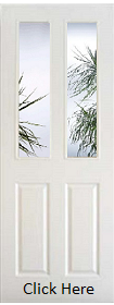 White 4 Panel - Clear Bevelled Edge Glass - Woodgrain - Pre Finished - DF