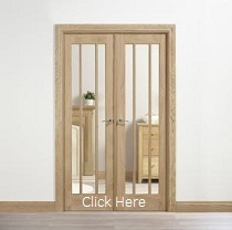 Oak Lincoln W4 - Clear Glass - Unfinishe...