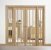 Oak Lincoln W6 - Clear Glass - Unfinishe...