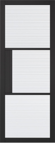 Tribeca 3L Black Reeded Glass Door