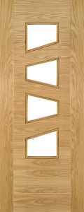 Oak Seville 4PS with Clear Glass - Pre Finished - DE