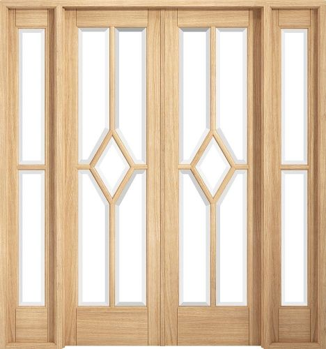 Reims Pre-Finished Oak W6 Clear Glass Room Divider - LPD