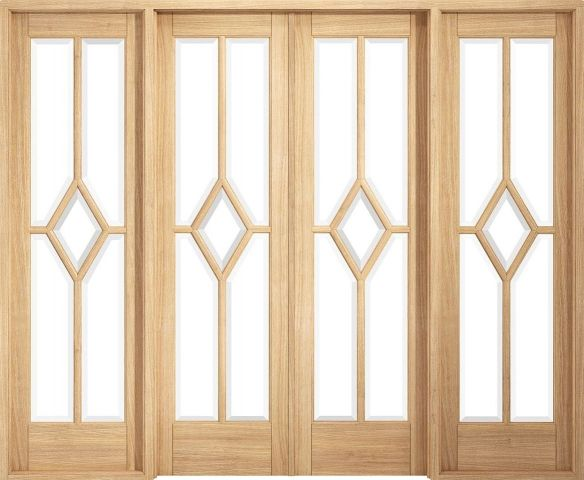 Reims Pre-Finished Oak W8 Clear Glass Room Divider - LPD