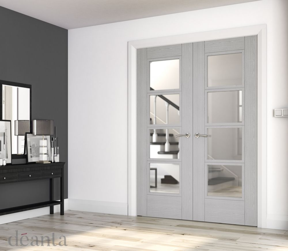 Light Grey Ash Montreal Glazed Rebated P...