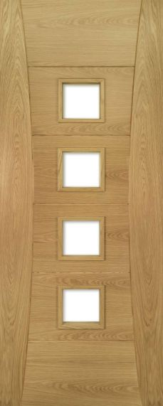 Oak Pamplona - Clear Glass - Pre Finished - FD30 - DE