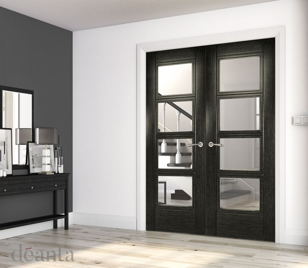 Dark Grey Ash Montreal Glazed Rebated Pa...