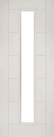 White Primed Seville with Clear Glass - FD30 - 44mm - DE