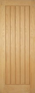 Oak Mexicano Door - FD30 - 44mm - Solid Core - Unfinished Oak - LPD
