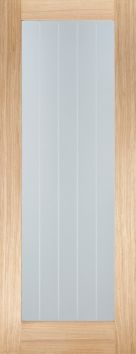 Oak Mexicano Pattern 10 with Clear Glass and Frosted Lines - Prefinished - LPD