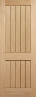 Oak Mexicano 2 Panel - FD30 - 44mm - Solid Core - Unfinished  - LPD