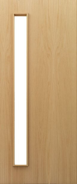 Flush Oak D06 Glazed - FD30 - 44mm - Prefinished - DE