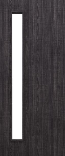 Flush Dark Grey Ash Firedoor D06 Glazed - FD30 - 44mm - Prefinished - DE