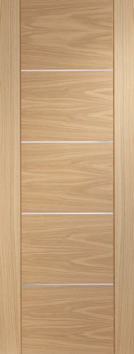Oak Portici - FD30 - 44mm - Pre Finished - Aluminium Inlay   - XL