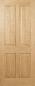 Oak Regency 4 Panel  - Solid Core - Unfinished - LPD