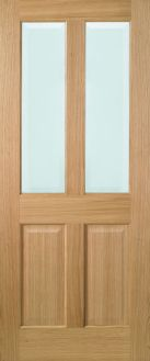 Oak Richmond - Clear Bevelled Glass - Solid Core - Unfinished - LPD