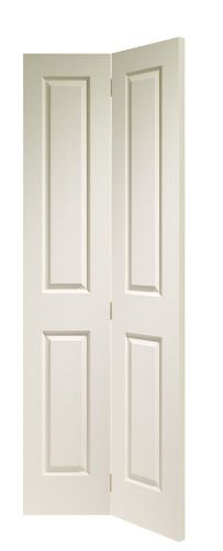 White Primed 4 Panel Victorian Bifold - Woodgrained - XL