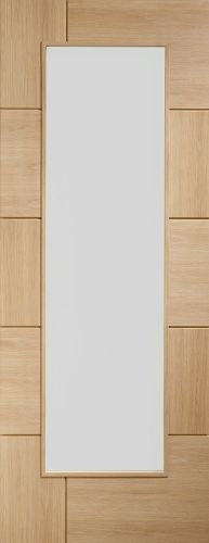 Oak Ravenna with Clear Glass - Unfinished - XL