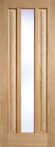 Oak Kilburn Clear Glass - Solid Core - Unfinished - LPD