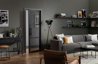 Tribeca 3L Black Tinted Glass Door