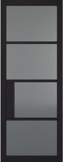 Chelsea 4L Black Tinted Glass Door