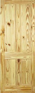 Knotty Pine 4 Panel - Solid Core - ...