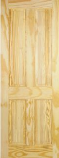 Clear Pine 4 Panel - Solid Core - L...