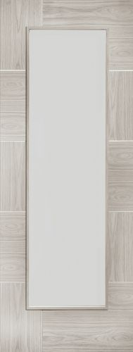 Internal White Grey Laminate Ravenna Clear Glass Door - XL