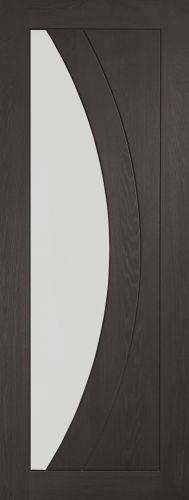 Internal Umber Grey Laminate Salerno Clear Glass Door - XL