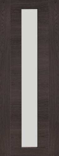 Internal Umber Grey Laminate Clear Glass Forli Door - XL